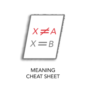 meaning cheatsheet